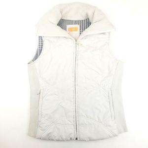 Womens Lucy Cream White Puffer Vest Size L